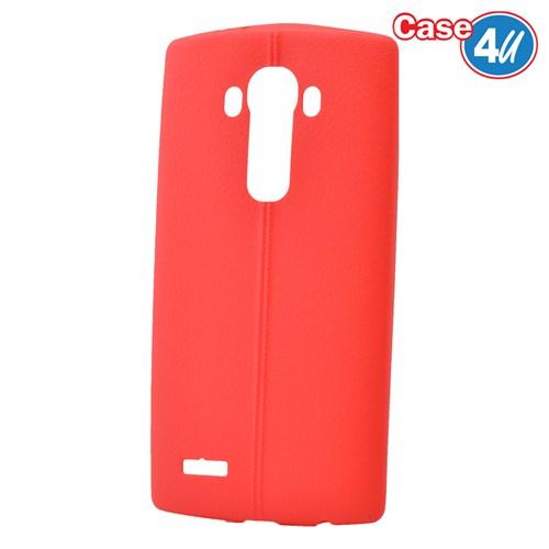 Case 4U Lg G4 Desenli Silikon Kılıf Kırmızı