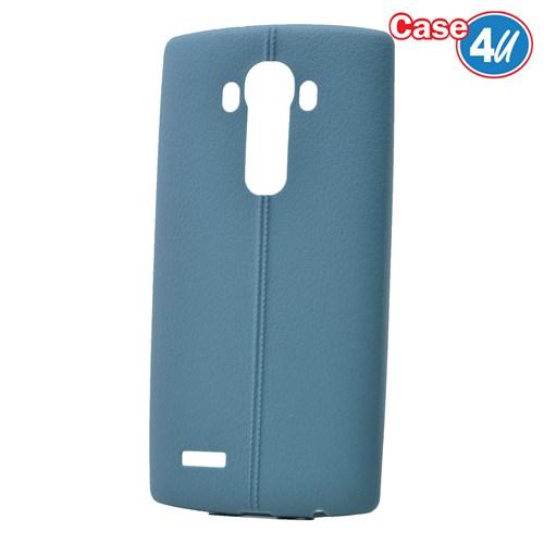 Case 4U Lg G4 Desenli Silikon Kılıf Koyu Mavi
