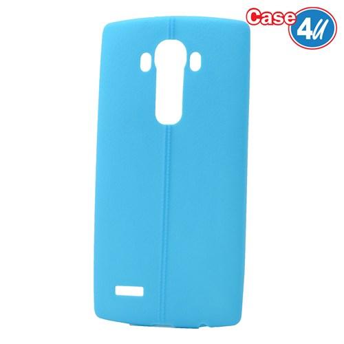 Case 4U Lg G4 Desenli Silikon Kılıf Mavi
