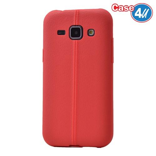 Case 4U Samsung Galaxy J1 Desenli Silikon Kılıf Kırmızı