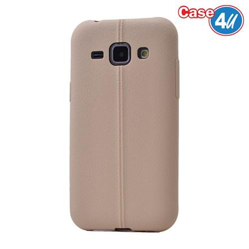 Case 4U Samsung Galaxy J1 Desenli Silikon Kılıf Krem