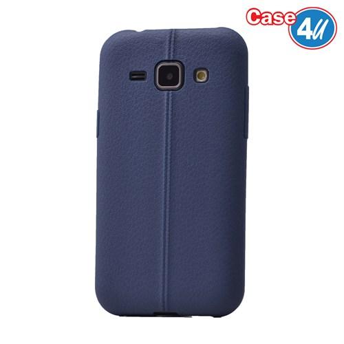 Case 4U Samsung Galaxy J1 Desenli Silikon Kılıf Lacivert