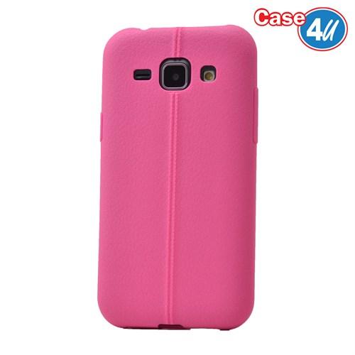 Case 4U Samsung Galaxy J1 Desenli Silikon Kılıf Pembe