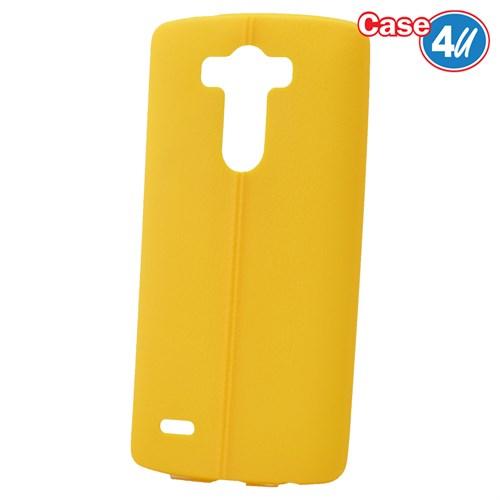 Case 4U Lg G3 Desenli Silikon Kılıf Sarı