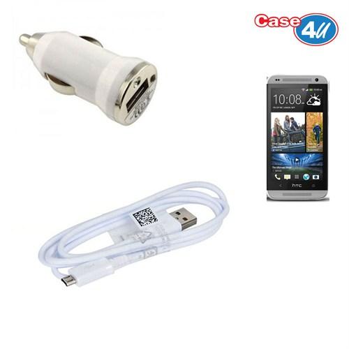 Case 4U Htc Desire 610 Araç Şarj Cihazı+Micro Usb Kablo