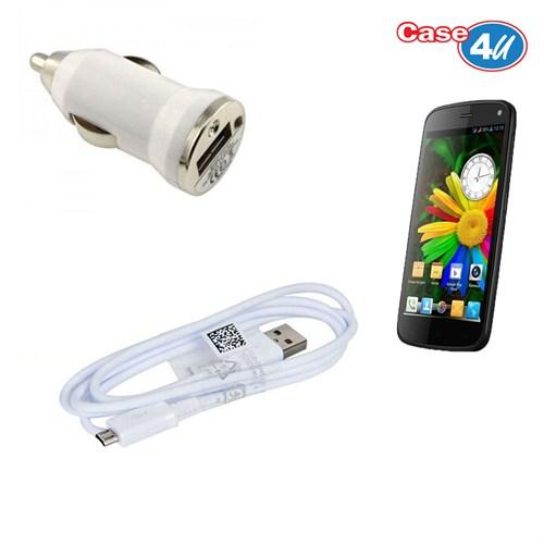 Case 4U General Mobile Discovery Araç Şarj Cihazı+Micro Usb Kablo