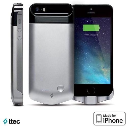 Ttec Caffeine Şarj Kılıfı iPhone 5/5s Beyaz 2SK1001B (MFI)