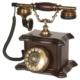 Anna Bell Konak Ceviz Ahşap Telefon