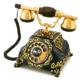 Anna Bell Şehrazat Antik Siyah Altın Varaklı Telefon