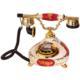Anna Bell Porselen Damla Bordo Beyaz Telefon