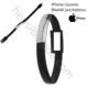 Case 4U Apple iPhone 5/5s/SE/6/6s/6 Plus/6S Plus Uyumlu Bileklik Şarj ve Data Kablosu Siyah