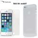 Case Leap İphone 5/5s/Se İnce Silikon Kılıf Şeffaf + Kırılmaz Cam