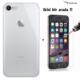 Case Leap iPhone 7 İnce Silikon Kılıf Şeffaf + Kırılmaz Cam