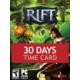 Rift 30-Days Time Card Dijital Kod / E-Pin