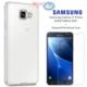 Case 4u Samsung Galaxy J7 Prime Silikon Kılıf Şeffaf + Kırılmaz Cam