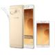 Case 4u Samsung Galaxy C9 Pro Silikon Kılıf Şeffaf + Kırılmaz Cam