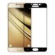 Case 4U Samsung Galaxy C7 Full Kapatan Kırılmaz Cam Ekran Koruyucu Siyah