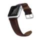 Case 4U Apple Watch 42mm Deri Kordon Koyu Kahverengi