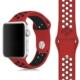 Case 4U Apple Watch 42mm Delikli Spor Kayış Kırmızı/Siyah