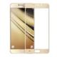 Case 4U Samsung Galaxy C7 Full Kapatan Kırılmaz Cam Ekran Koruyucu Altın