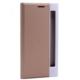 Case 4U LG Stylus 2 Pencereli Gizli Mıknatıslı Kapaklı Kılıf Altın