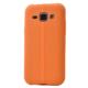 Case 4U Samsung Galaxy J1 Desenli Silikon Kılıf Turuncu
