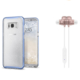 Spigen Samsung Galaxy S8 Plus 2in1 Avantaj Paketi 3 (Neo Hybrid Crystal Glitter Blue Quartz + Bluetooth Kulaklık Rose Gold)