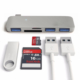 Case 4U USB-C/Type-C To SD Kart Okuyucu Ve Hub Çevirici Usb Port Macbook Gri