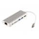 Case 4U USB-C Type-c to Multi USB 3.0 HDMI RJ45 Ethernet Micro SD SD Kart Okuyucu OTG Type C HUB Dönüştürücü
