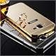 Coverzone Samsung Galaxy J7 216 Kılıf Aynalı Bumper + Kırılmaz Cam Gold