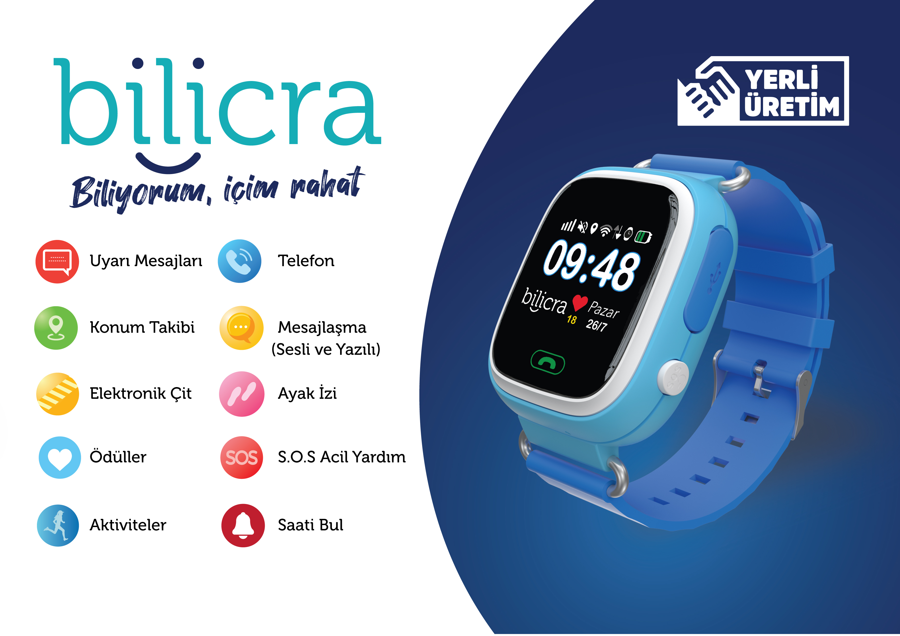 Bilicra BLC 101 Akıllı Çocuk Saati - Mavi Fiyatı