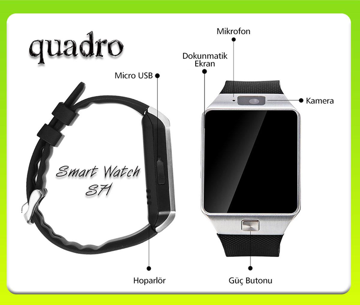 quadro yeni smart watch s71 versiyon2