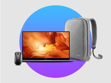 Huawei Matebook D 16 alana, Huawei bluetooth mouse ve Huawei çanta hediye