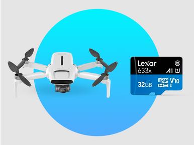 Fimi X8 mini drone alana Lexar 32GB hafıza kartı hediye