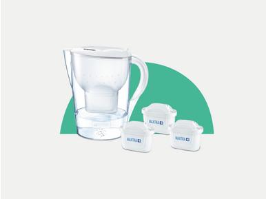 Brita Marella XL su arıtmalı sürahi alışverişlerinde  6'lı su arıtma filtresi 10 TL indirimli