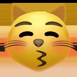 Kissing Cat on Apple iOS 14.2