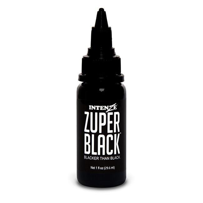 Intenze Zuper Black Siyah Dövme Boyası - 1 oz (30ml)