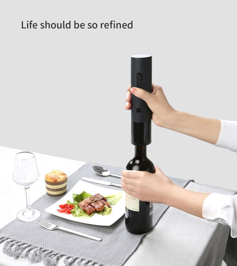 Xiaomi Huohou Automatic Red Wine BottleWine Stopper Electric Corkscrew Foil Cutter Cork Out Tool for Xiaomi Smart Home Kits H15 (9)
