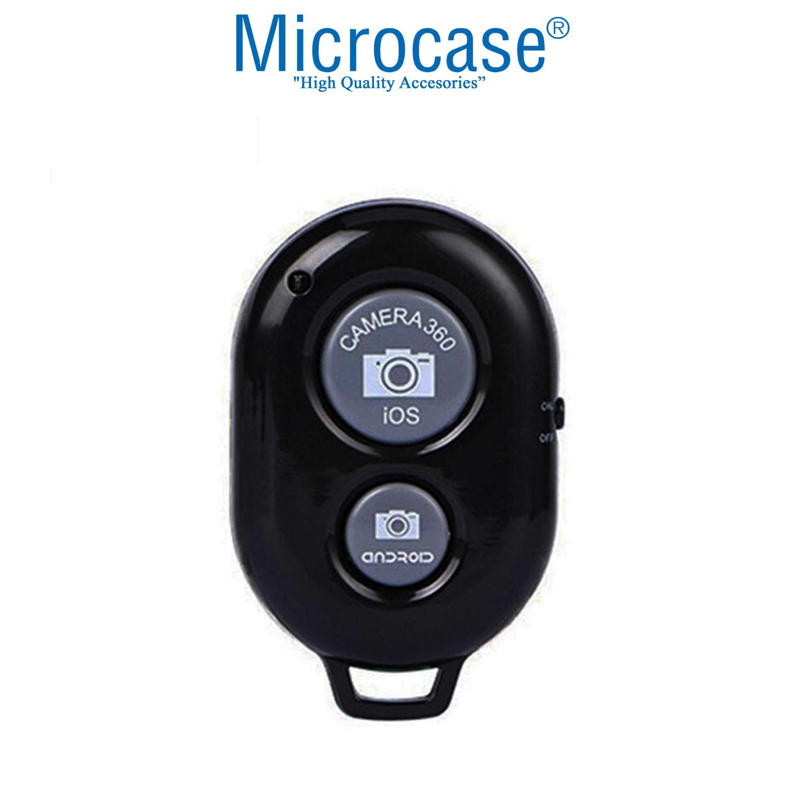 Microcase Tripod ve Selfie Çubuğu için Bluetoothlu Uzaktan Fotoğraf Çekim Kumandası Siyah - AL2638