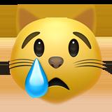 Crying Cat on Apple iOS 14.2