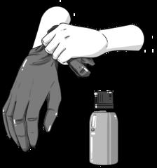 1. Aşama: Lütfen eldiveni giyiniz.
